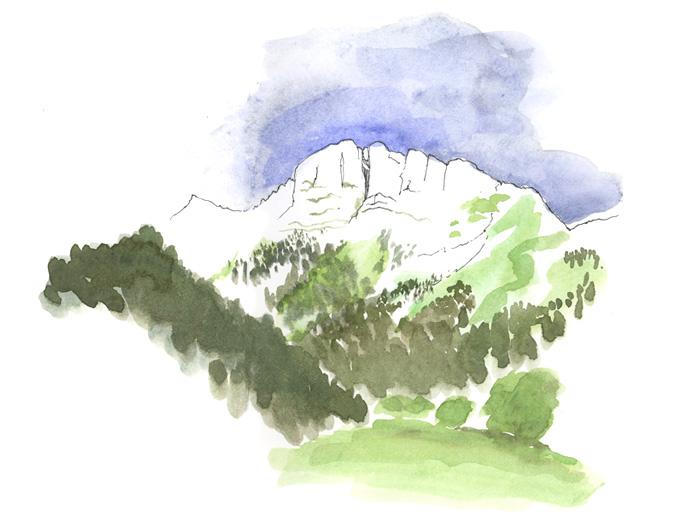 Air pur et montagne